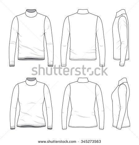 Vector Clothing Templates Blank Shirts Short Stock Vector ...
