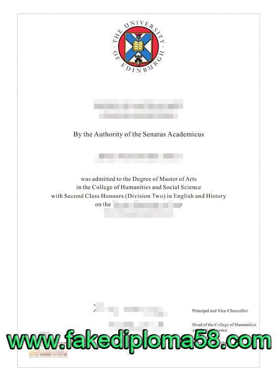 University of Edinburgh diploma, buy a fake degree online ...