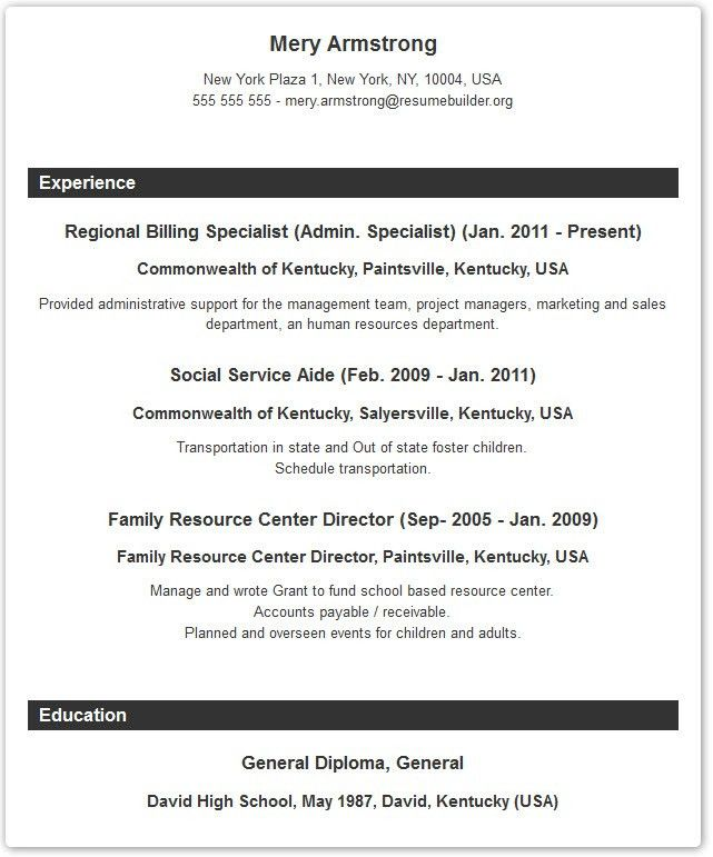 Very Attractive Resume Formating 12 Chronological Resume Format ...