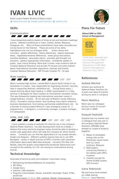 System Engineer CV Örneği - VisualCV Özgeçmiş Örnekleri Veritabanı