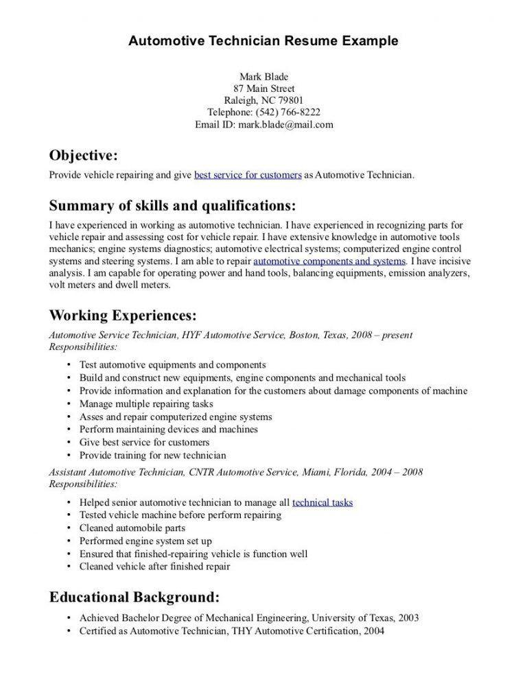 Download Automotive Resume   haadyaooverbayresort.com