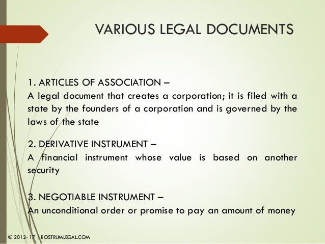 Module 1- Legal Documents an Overview