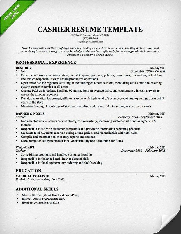 Chronological Resume Samples & Writing Guide | RG
