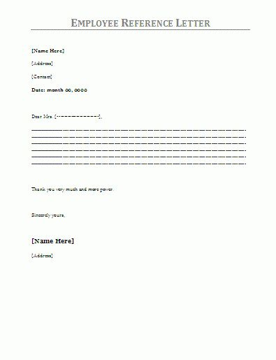 6+ job reference letter for employee | ledger paper