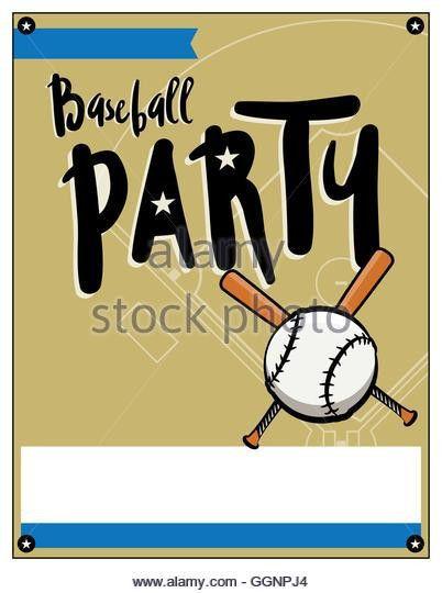 Baseball Party Flyer Template Illustration Stock Photos & Baseball ...