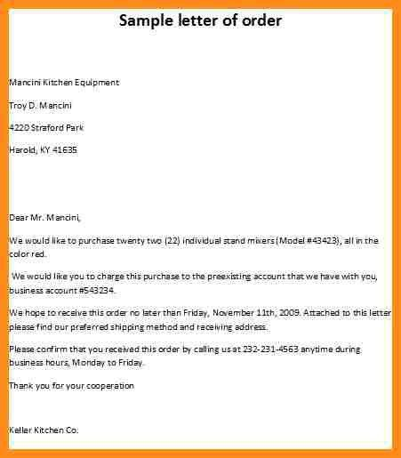 7+ purchase order letter sample free | parts of resume