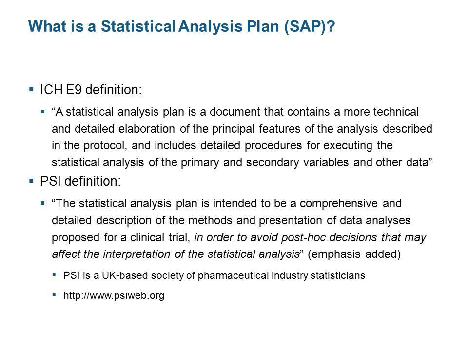 CONFIDENTIAL © 2012 | 1 Writing a Statistical Analysis Plan DIA ...