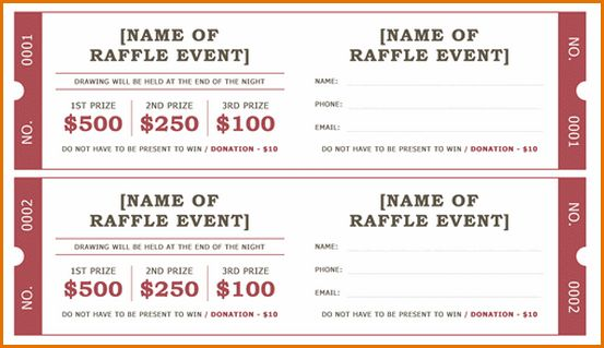 7+ free raffle ticket template for word | Job Resumes Word