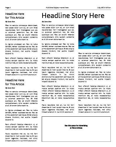 Free Newspaper Templates - Print and Digital | Makemynewspaper.com