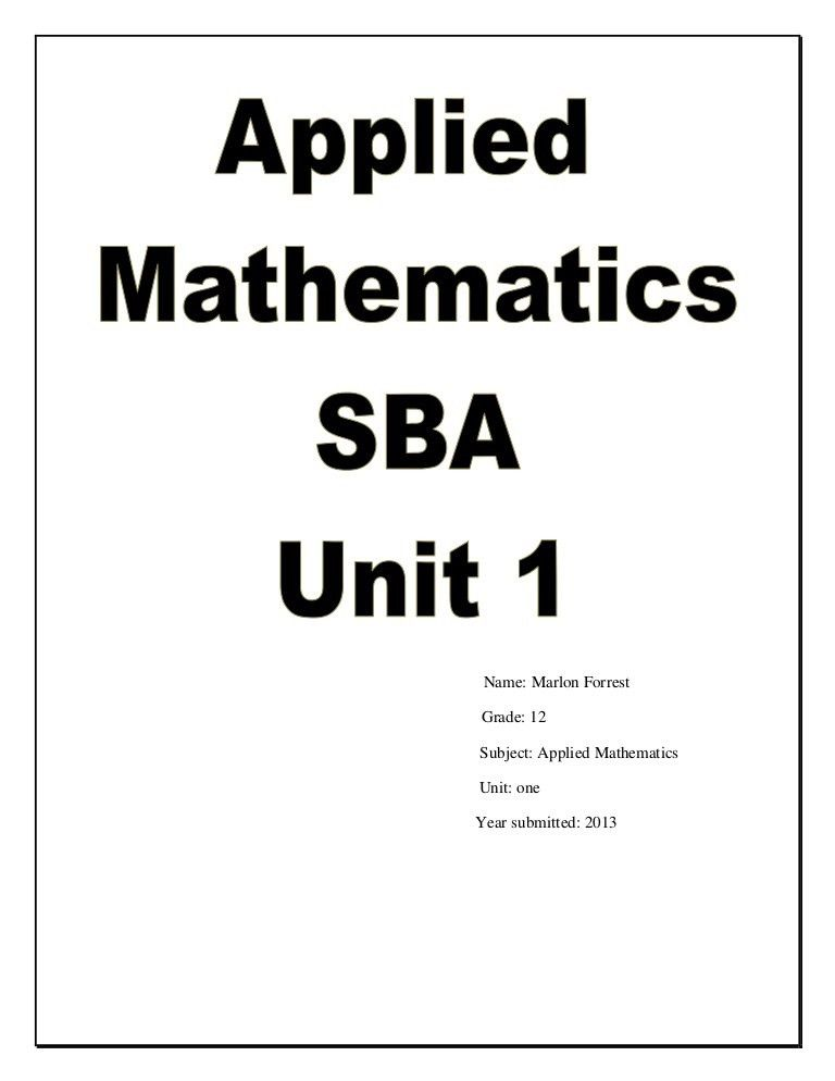 Applied math sba
