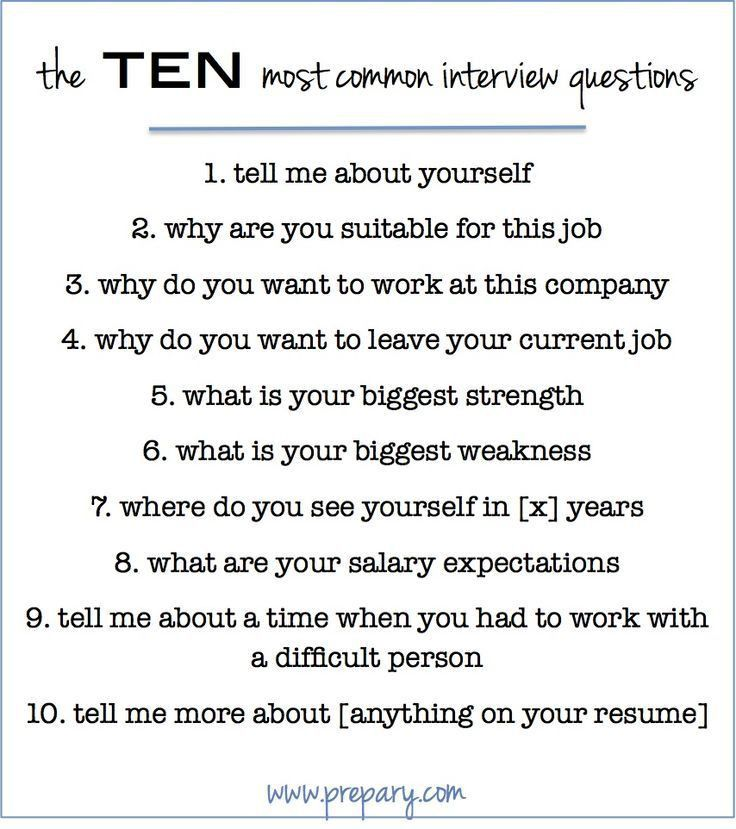 Valuable Inspiration Resume Questions 10 Behavioral Interview ...
