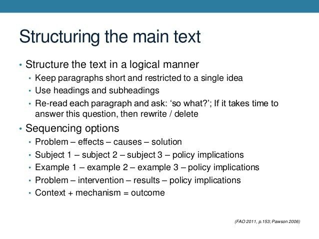 Introduction to Technical Writing: The Policy Brief