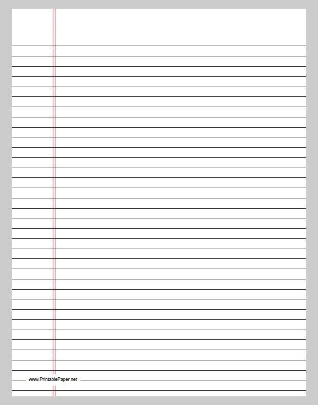 Best Photos of Printable Lined Paper Template - Free Printable ...