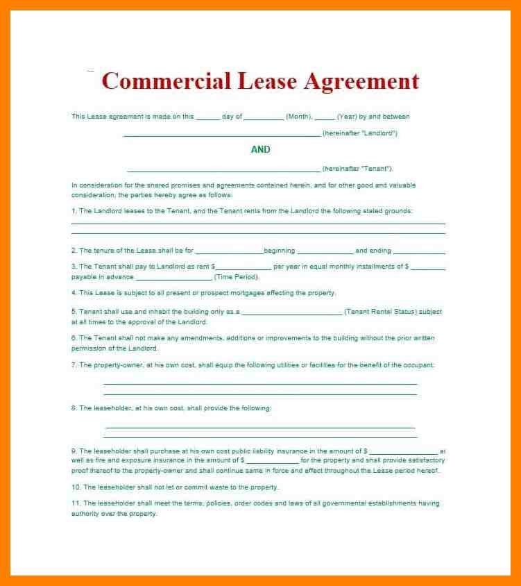 Commercial Lease Proposal Template. 13 free sample office sublease ...