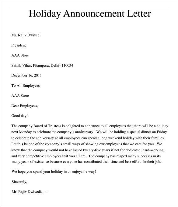 5+ Holiday Memo Templates – Free Word Documents Download! | Free ...