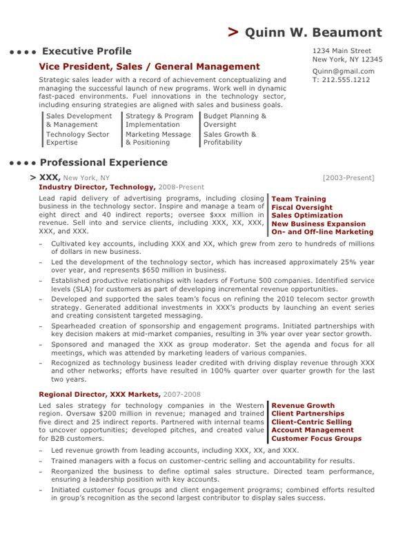 Senior Sales Executive Resume | Careers Done Write