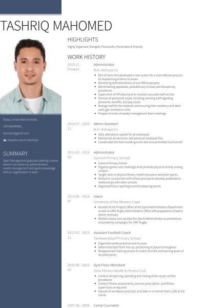 Admin Assistant Resume samples - VisualCV resume samples database