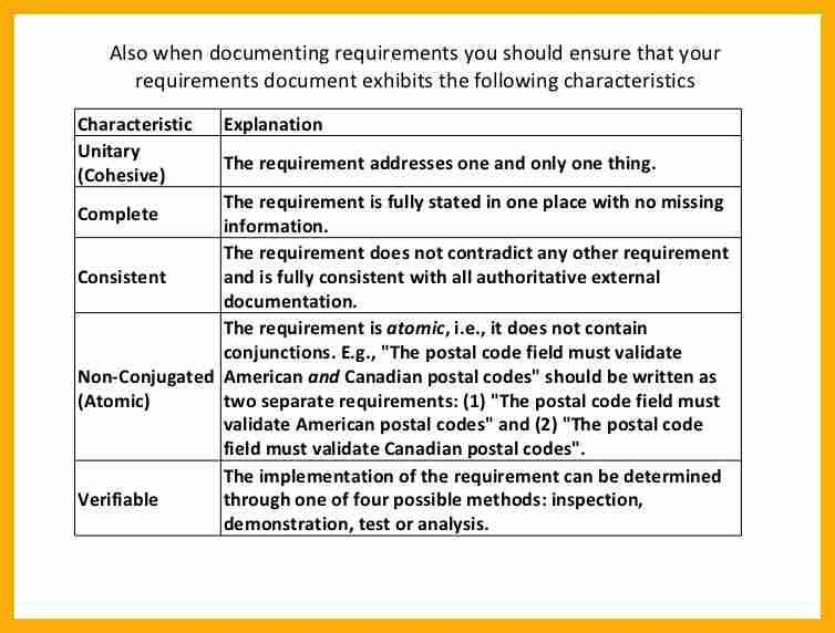 7+ business requirements document example | data analyst resumes