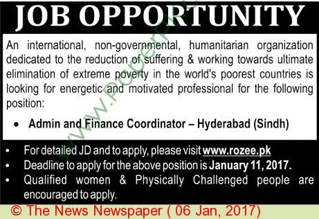 Admin And Finance Coordinator Jobs In Hyderabad on 06 January ...