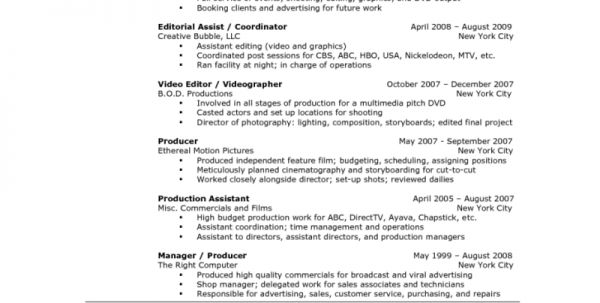 Video Editor Resume Sample 1 Editor Resume Sample Resume Templates ...