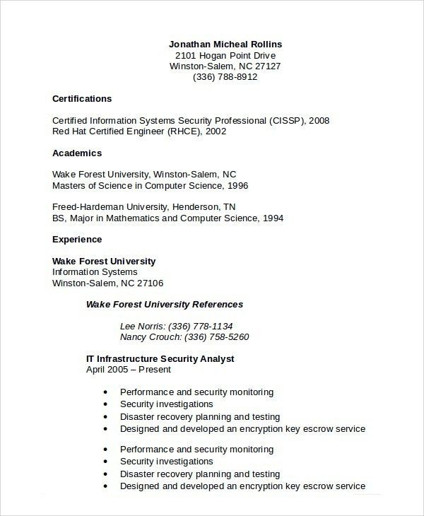 security guard resume sample cyber security resume resume