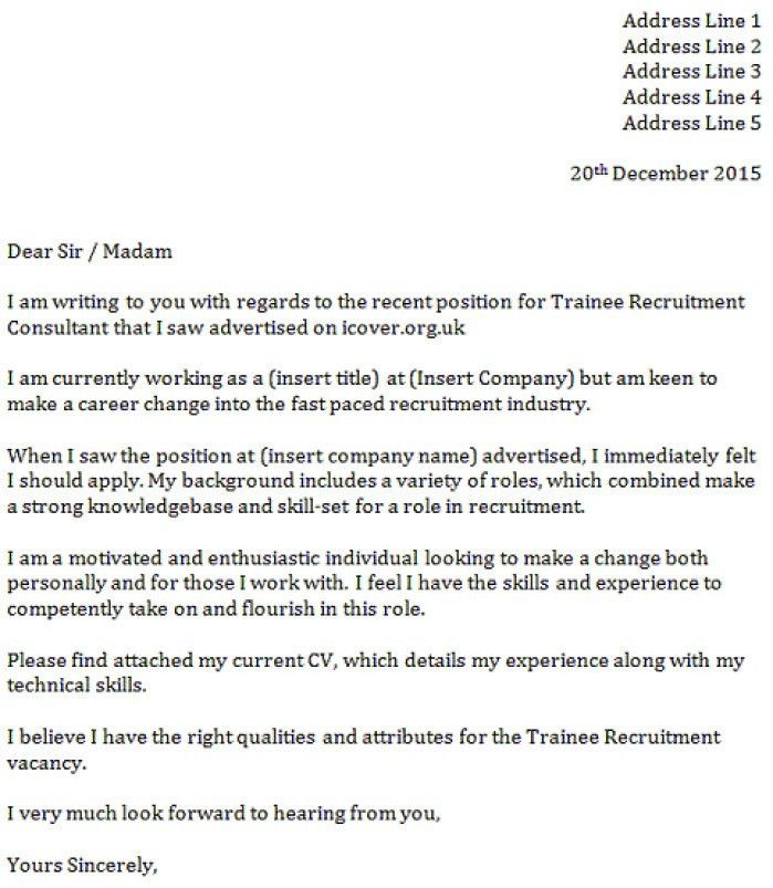 Recruitment Cover Letter