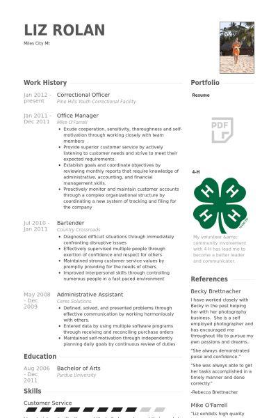 Correctional Officer Resume samples - VisualCV resume samples database