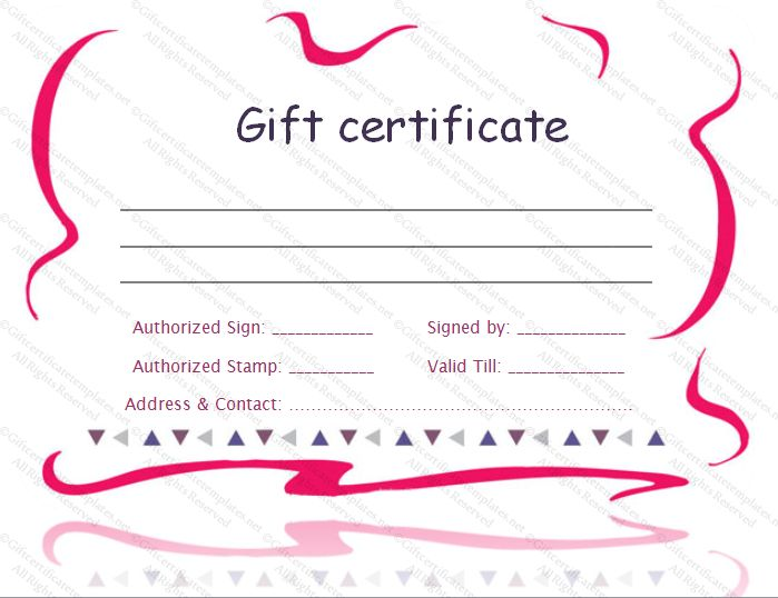 printable gift certificate template - Gift Certificate Templates ...