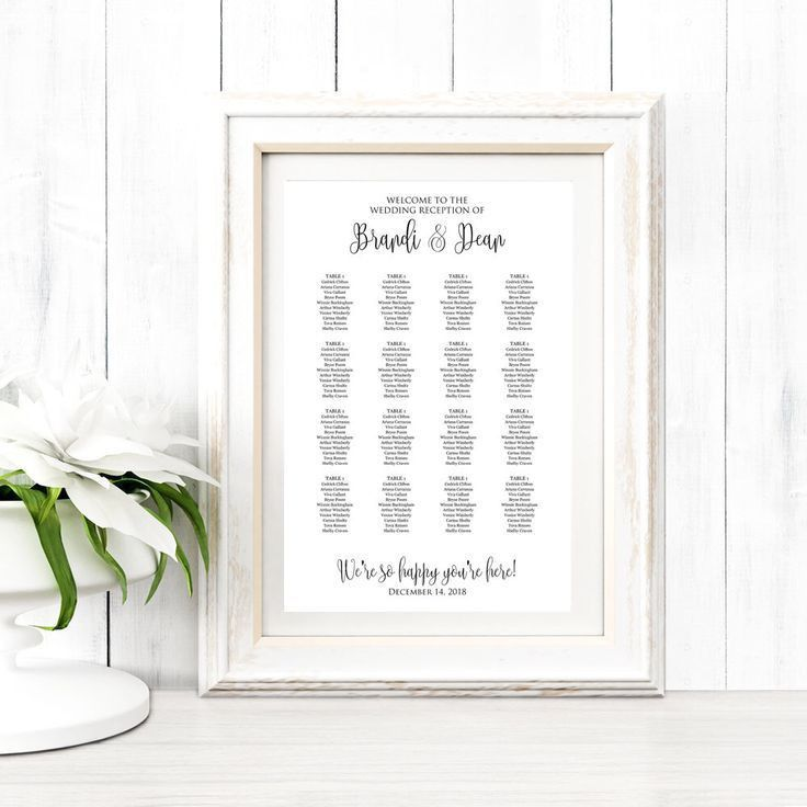 88 best Seating Chart Templates images on Pinterest | Wedding ...