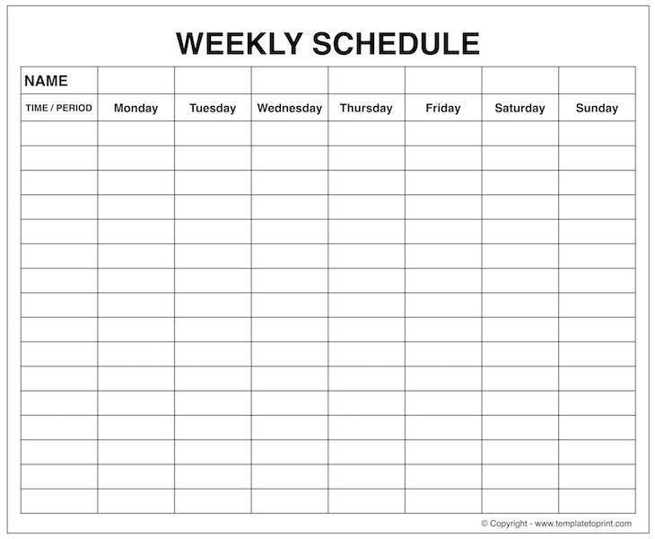 Free Printable Weekly Calendar. Weekly-Calendars-2016-In-Pdf ...