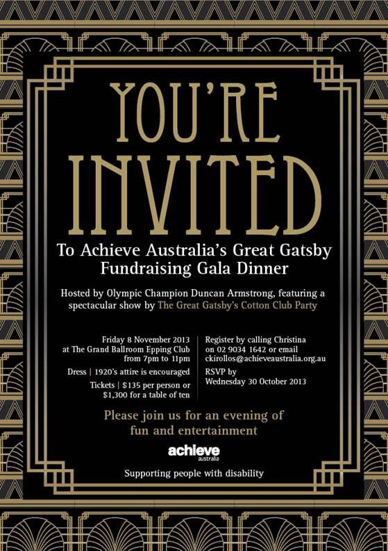 Great Gatsby Party Invitations | christmanista.com