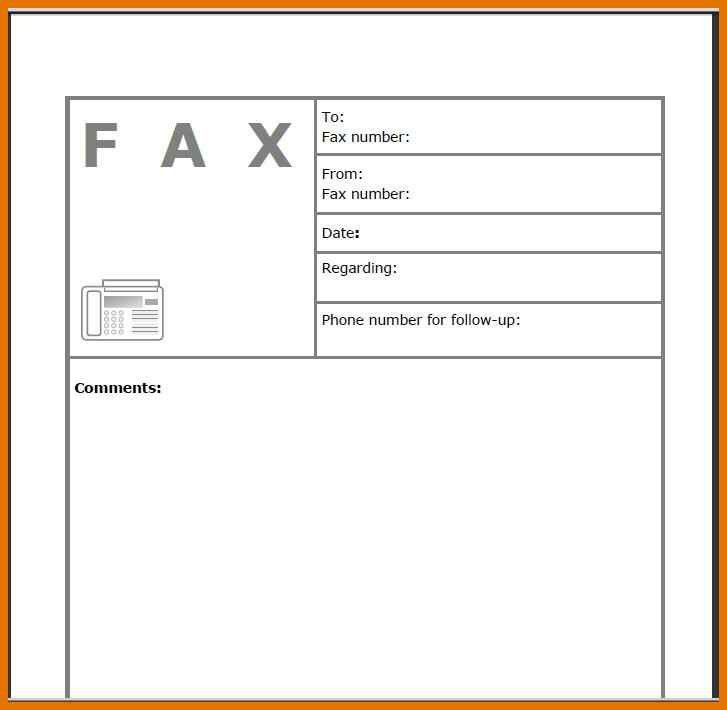 free fax cover sheet template pdf | resume name