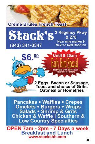 Stack's - Big Fat Coupon Book - Hilton Head Island, SC