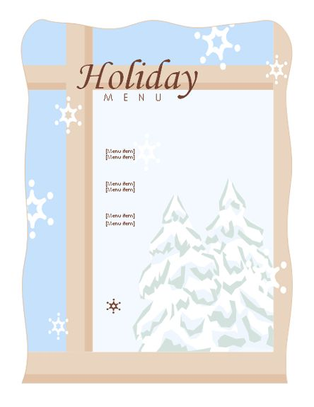 Menu (Elegant Party design) - Office Templates