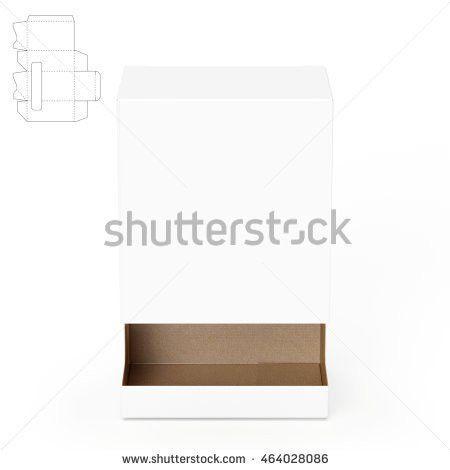 Gravityfed Dispenser Box Die Cut Template Stock Illustration ...
