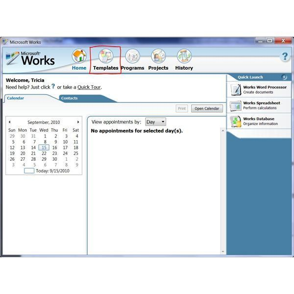 How To Use The Free Brochure Templates For Microsoft Works Word ...