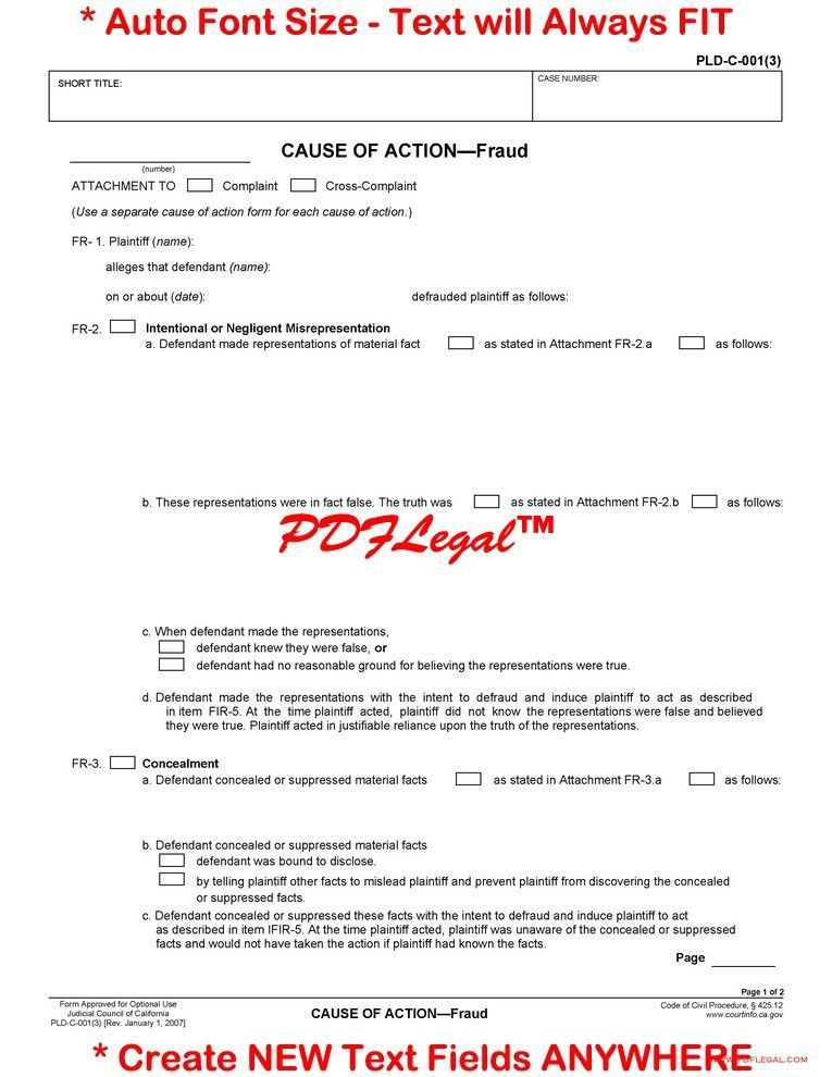 Pleadings - Contract - California Judicial Council Forms ...