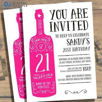St Party Invitation Templates St Birthday Party Invitations - 21st birthday invitations ideas templates