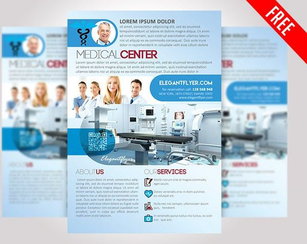 Medical center free psd flyer template Free psd in Photoshop psd ...