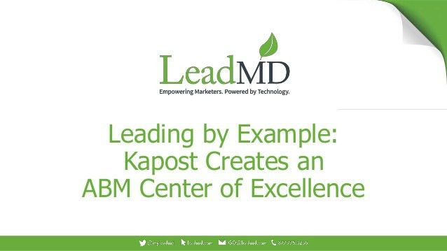 by Example: Kapost Creates an ABM Center of Excellence