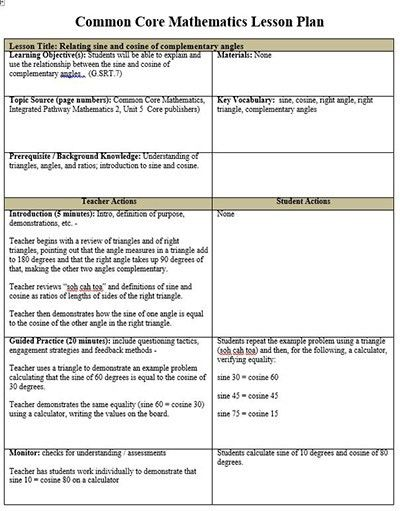 19+ [ Common Core Weekly Lesson Plan Template ] | Behavior Chart ...