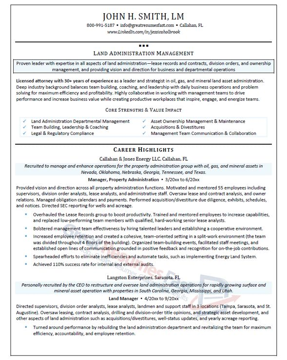 Executive Resume Samples | Professional Resume Samples