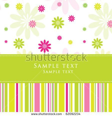 Birthday Card Nice Greeting Card Template Stock Vector 62092234 ...
