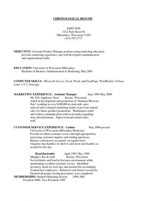 Assistant Manager Resume Objective | The Best Letter Sample