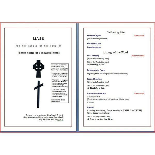 9 Best Images of Catholic Funeral Program Sample - Catholic ...