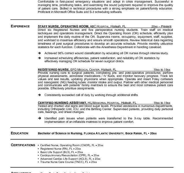 Valuable Idea Registered Nurse Resume Template 15 25 Best Ideas ...