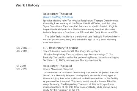 respiratory therapist resume samples resume cv cover letter. 44 ...