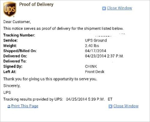 UPS Chink proof of delivery receipt - stuarte.co