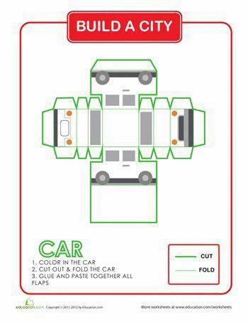 Printable Car Template | Howto.billybullock.us