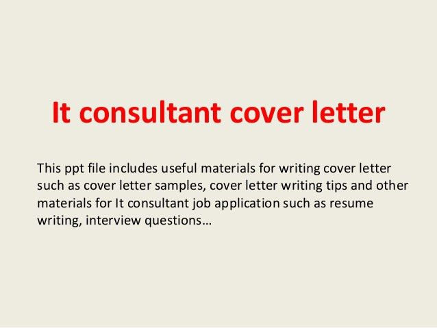 It Consultant Cover Letter Senior Cover Letter Consulting Cover - Erp consultant cover letter